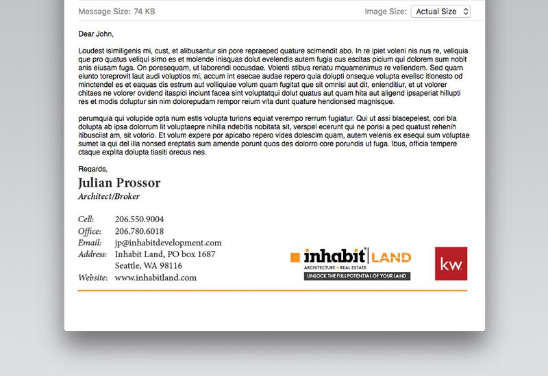 Inhabit Land Email Signature
