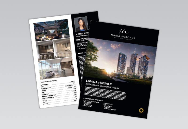 Maria Foronda 2 Page Feature Sheet