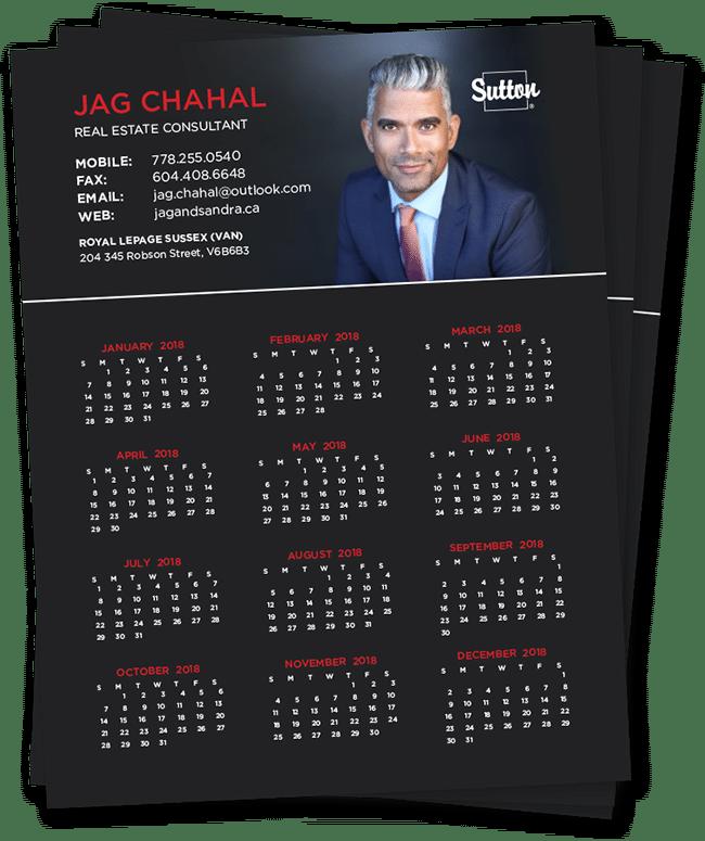 Fridge Calendar Magnet