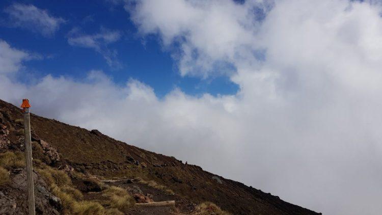 Te Araroa Trail Descending to Ketatahi hut Tongariro Crossing