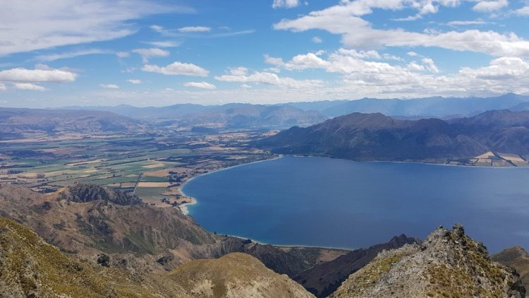 Te Araroa Trail Day 94 - View from Breast Hill across Lake Hawea