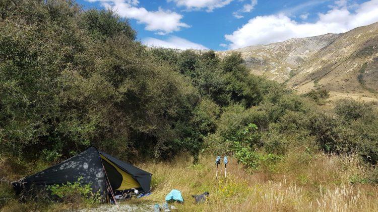 Te Araroa Trail Day 105 - Wild camp on North Mavora Lake shore