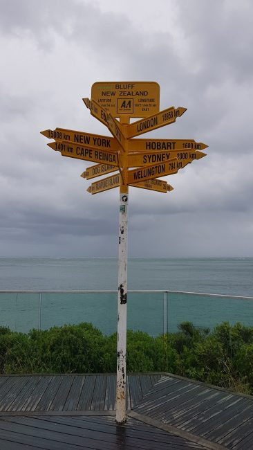 Te Araroa Trail Day 115 - The signpost at Bluff