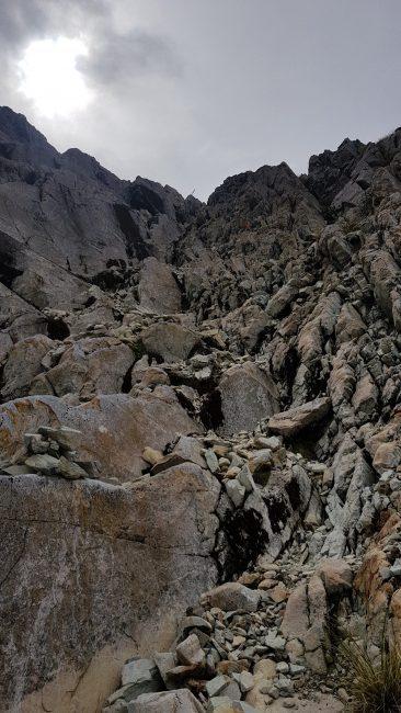Te Araroa Trail Day 124 - The climb down from Waiau Pass