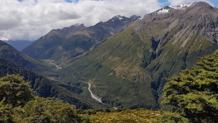 Te Araroa Trail Day 134 - The road through Arthurs Pass from Avalanche Peak