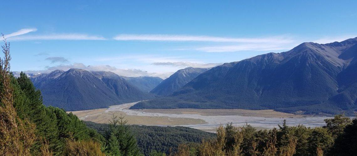 Te Araroa Trail Day 134 - Looking towards Bealey from Mt Bruce