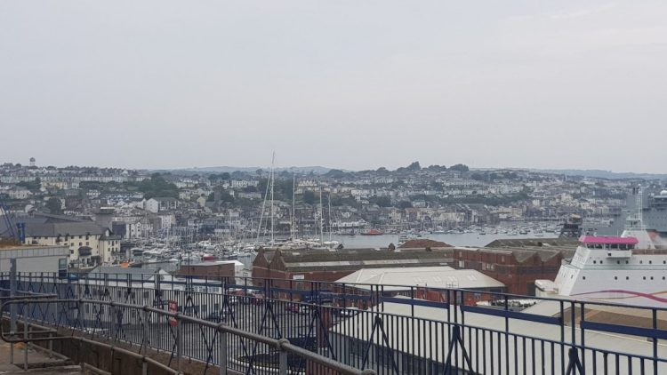 Falmouth dockyards and harbour