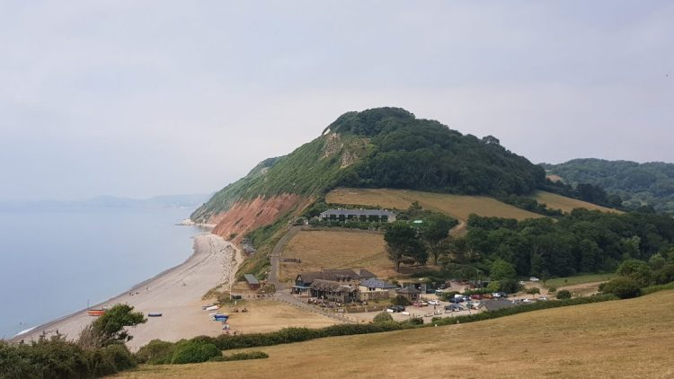 Looking back to Brandscombe Mouth