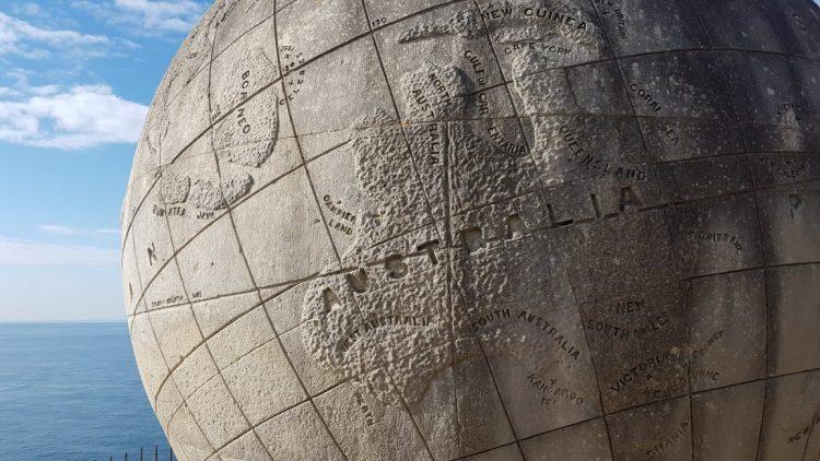 The globe at Durlston Point