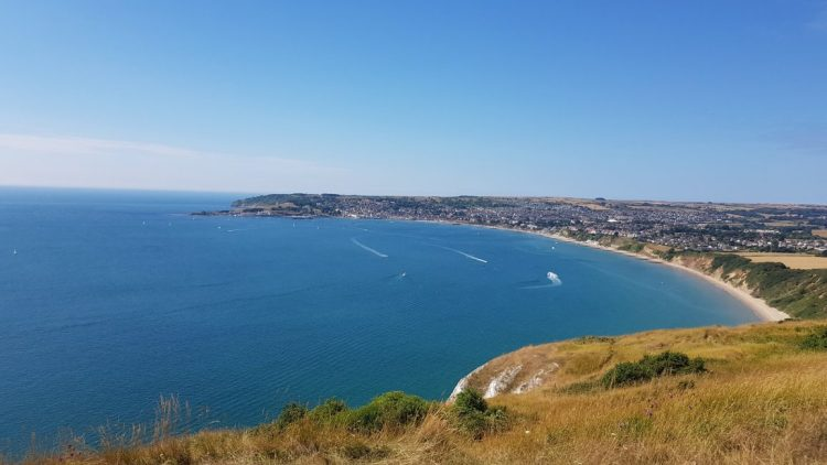 Swanage from Old Harry Rocks