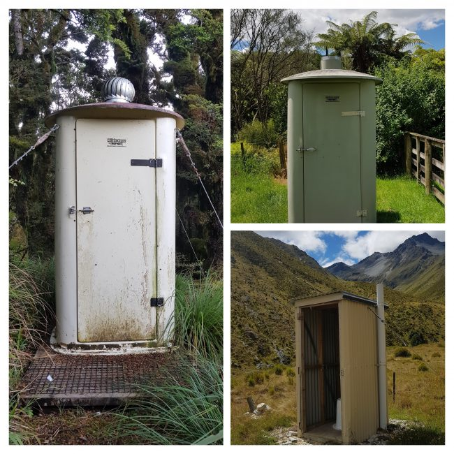 Beautiful backcountry toilets