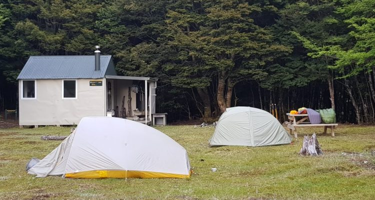 Camping at Tarn hut richmond