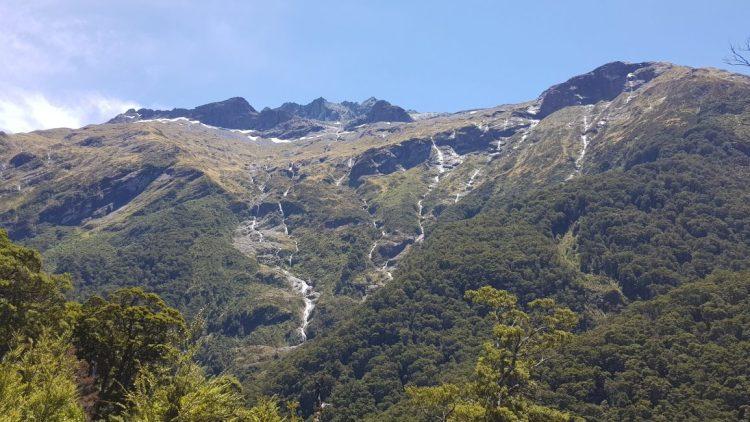 Waterfalls adjacent to the Siberia track