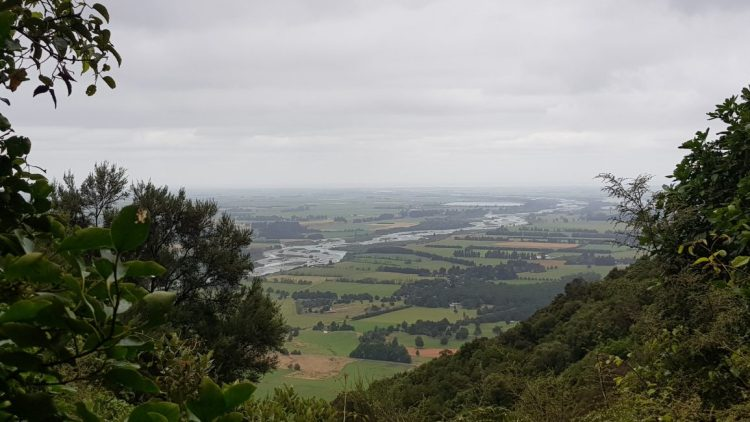 Canterbury plains and Rangitata river