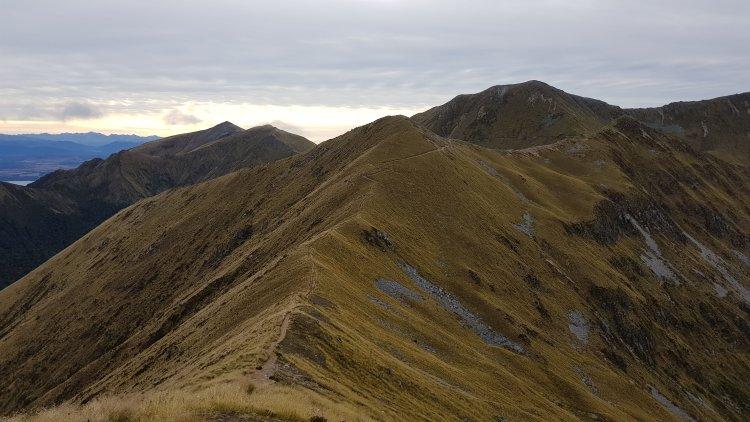 Walking the ridge on the Kepler Track