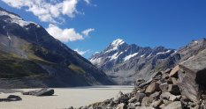 Hooker Lake and Aoraki/Mount Cook