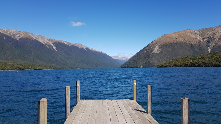 The jetty at Lake Rotoiti