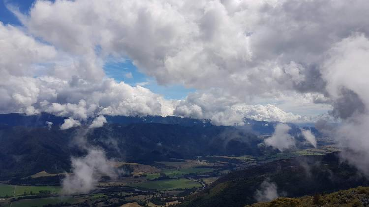 The Takaka river plains from Takaka Hill Walkway
