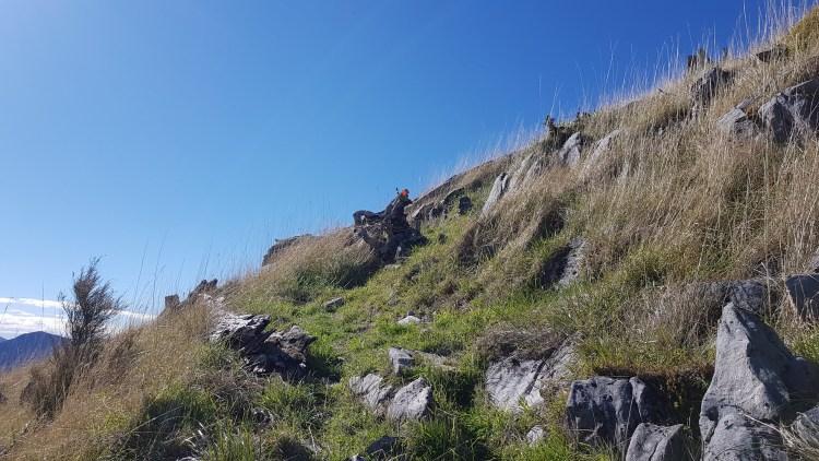 Final climb to the summit of Mount Malita