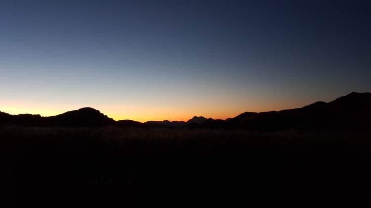 Sunrise beneath Mount Owen