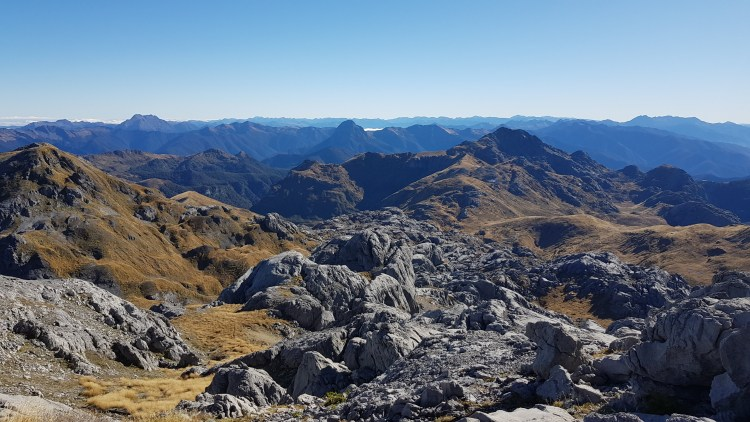 Heading back down from Mount Owen summit