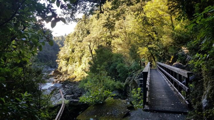 One of the bridges on the Charming Creek Walkway