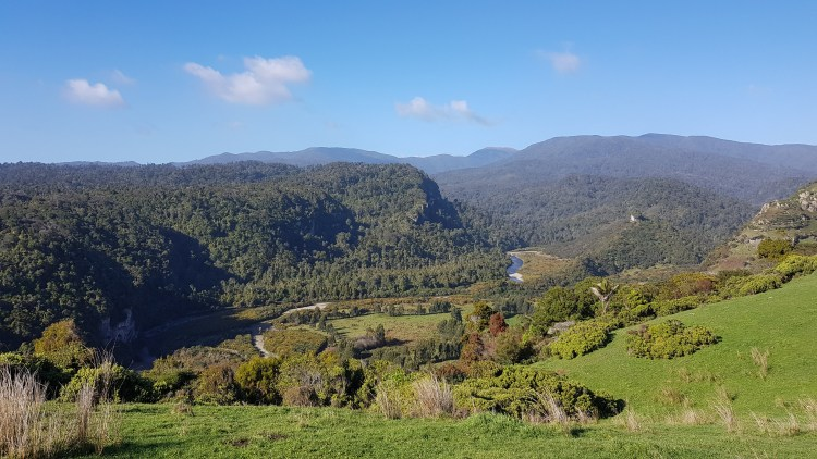 Looking inland to the Kahurangi National Park