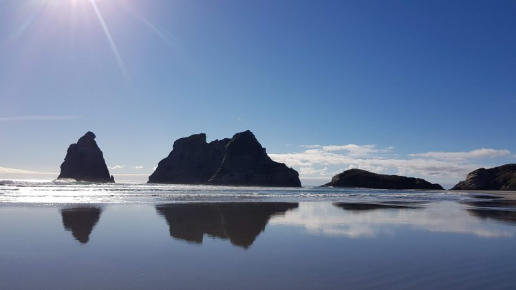 Archway Islands off Wharariki Beach