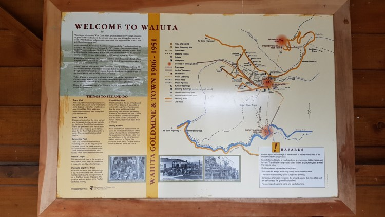 An overview of Waiuta - former gold mining town