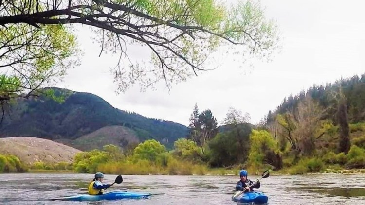 Kayaking on the Motueka River