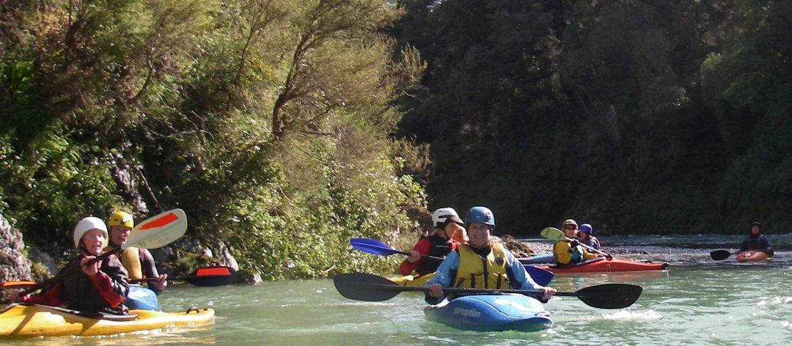 Jules Kayaking the Pelorous River