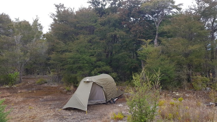 Pitched up at Castle Rock hut - Abel Tasman Inland Track
