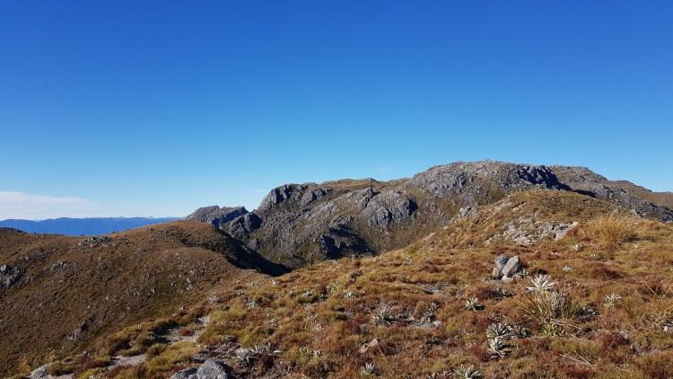 Walking the ridge to Buckland Peaks