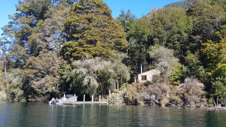D'Urville hut on Lake Rotoroa
