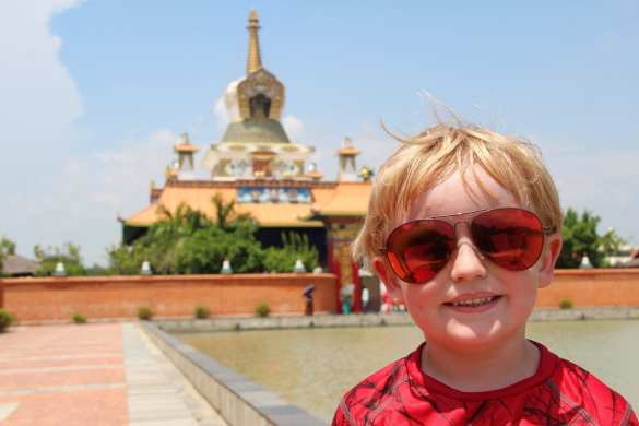 Lumbini with kids