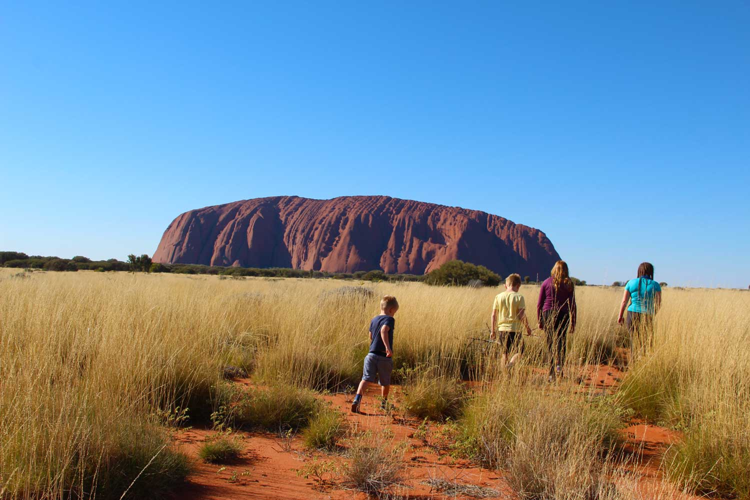Ayers rock with kids