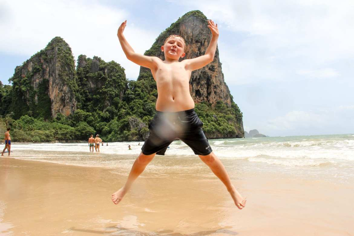 Railay West with kids
