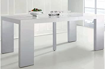 declikdeco table console extensible blanche laqua c e 4 rallonges xl jdfhbkjdnkh