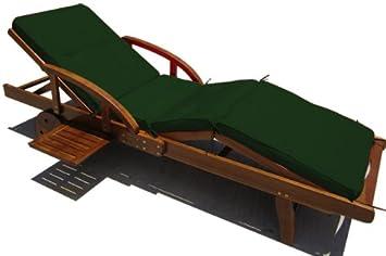coussin pour transat chaise longue de jardin vert 4 segments 195 cm fr shop