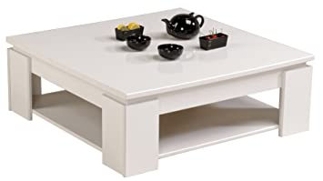 parisot 9439taba quadri table basse blanc mega ve brillant jdfhbkjdnkh