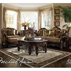 Living Room Furniture Sets Sale Paint Ideas With Brown Leather Aico Set Essex Manor Ai 768 Review