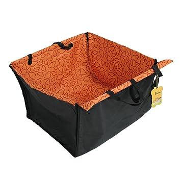 fuloon housse de protection pliable banquette transport arria re voiture imperma c able mat hamac tapis de couverture coffre pour chien chat animaux domestiques et voyage orange yuiolkjhgftgyhgf