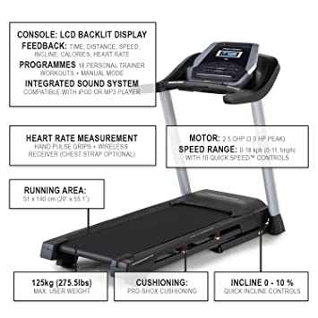 proform endurance m7 tapis de course machines de fitness