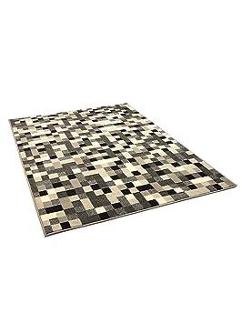 benuta tapis de salon moderne pixel swing pas cher gris 80x150 cm tyuikjhgvffrty
