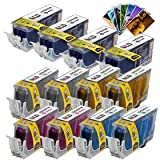 LD ? Canon Ink Set of 14 Ink Cartridges: (4) PGI-220, (2) CLI221 B/C/M/Y/G, Free LD 4x6 Photo Paper