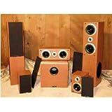 T Rex Raptor Cherry Five 5 Speakers Home Theatre 51 Speaker System