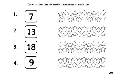 Free Math Worksheet Color In The Stars