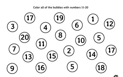Number Recognition Free Math Worksheet Pre-K and Kindergarten