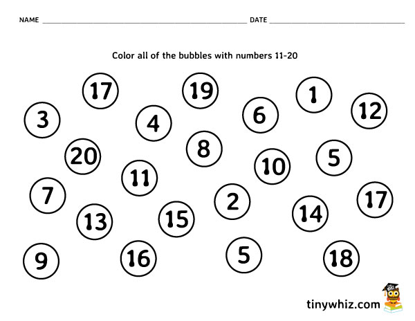 Number Recognition Free Math Worksheet PreK and Kindergarten – Pre-k Math Worksheets Free