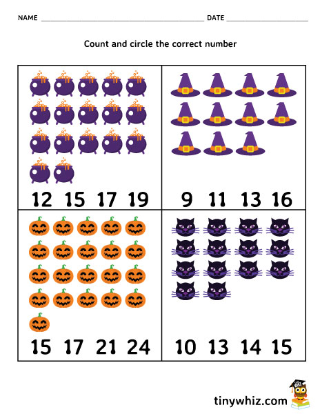 photo relating to Free Printable Counting Worksheets named No cost Printable Halloween Counting Worksheet For Kindergarten